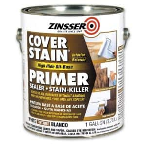 Cover Stain 1 gal. White High Hide Oil-Based Interior/Exterior Primer and Sealer (4-Pack)