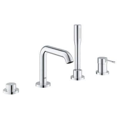 Essence New Single-Handle Deck-Mount Roman Bathtub Faucet with Handheld Shower in StarLight Chrome