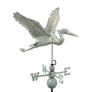 Blue Heron Weathervane - Blue Verde Copper