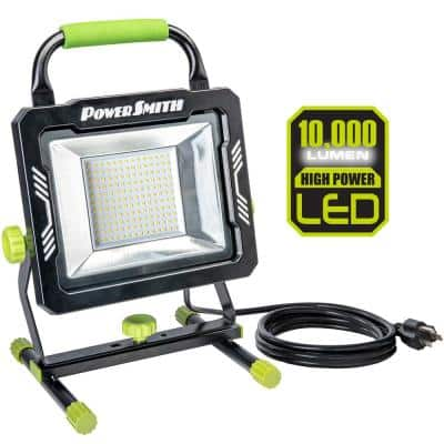 10,000 Lumens Portable LED Work Light with 10 ft. Power Cord and Metal Stand