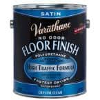 1 gal. Clear Satin Water-Based Floor Polyurethane (2-Pack)
