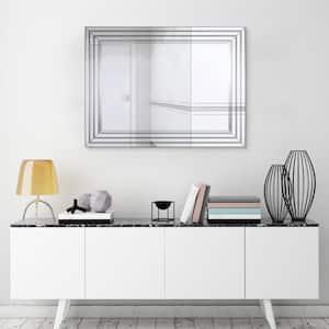 Medium Rectangle Clear Beveled Glass Modern Mirror (30 in. H x 40 in. W)