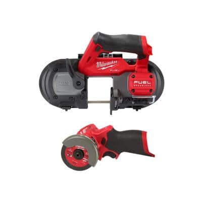 M12 FUEL 12-Volt Lithium-Ion Cordless Compact Band Saw with 3 in. Cut Off Saw (2-Tool)