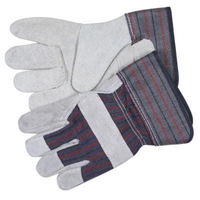 Leather Palm Economy Safety Gloves