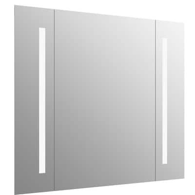 40 in. W x 33 in. H Frameless Rectangular LED Light Bathroom Vanity Mirror