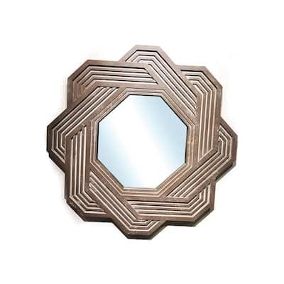 Medium Irregular Antiqued Antiqued Art Deco Mirror (32.3 in. H x 32.3 in. W)