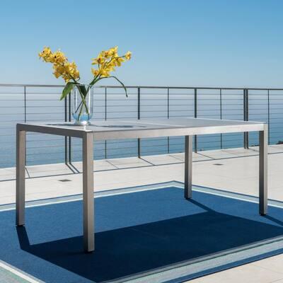 Valentina Grey Rectangular Aluminum Outdoor Dining Table