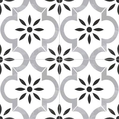 Azila Encaustic 8 in. x 8 in. Matte Porcelain Floor and Wall Tile (5.16 sq. ft./Case)
