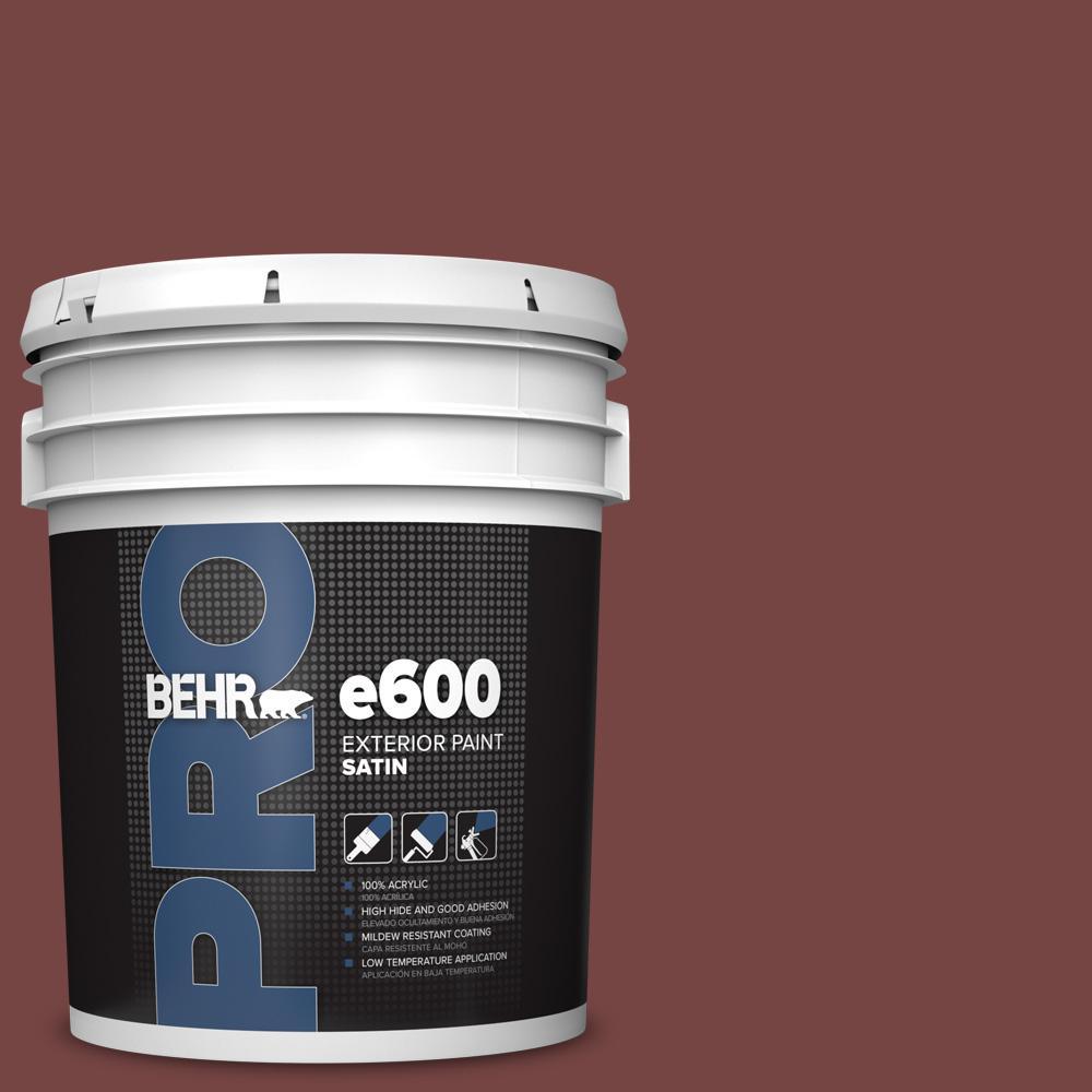 5 gal. #S130-7 Cherry Cola Satin Enamel Exterior Paint