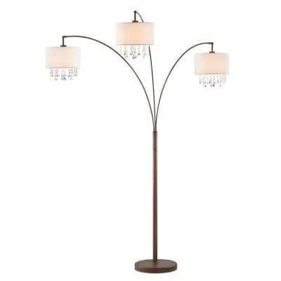 Lumiere IV 80 in.  Antique Bronze LED Crystal Arc Floor lamp/Dimmer