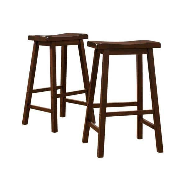 29 In Warm Cherry Bar Stool Set Of 2 405302c 29 2pc The Home Depot