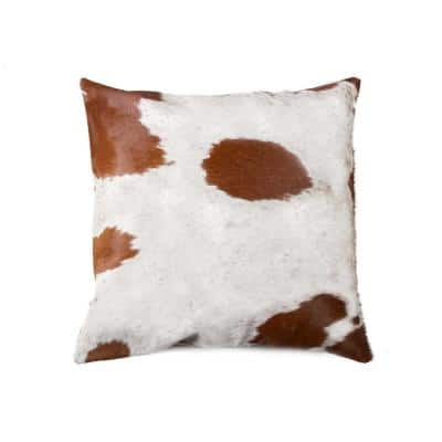 Josephine Multi-Colored Animal Print 18 in. x 18 in. Cowhide Throw Pillow
