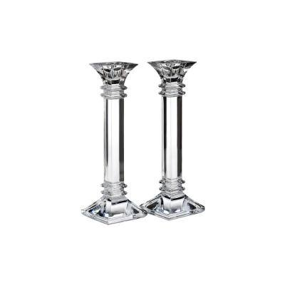 Treviso Clear Crystal 10 in. Candle Holder (Set of 2)