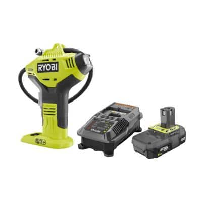 18-Volt ONE+ Lithium-Ion Cordless High Pressure Inflator with Digital Gauge with 2.0 Ah Battery and Charger