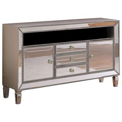 Brissa 60 in. Silver Mirrored TV Stand