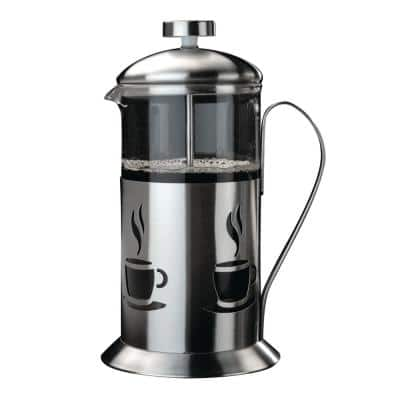 CooknCo 2.5-Cup Stainless Steel and Glass French Press