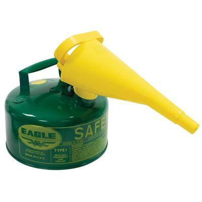 Metal Safety Fuel Can, 1 Gal. with Funnel