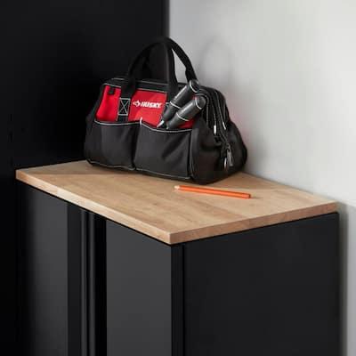 24 in. Solid Wood Work Surface for Regular Duty Welded Steel Garage Base Cabinets