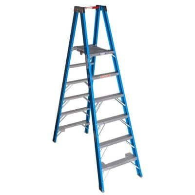 12 ft. Reach Fiberglass Platform Twin Step Ladder with 250 lb. Load Capacity Type I Duty Rating