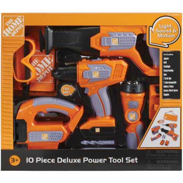 The Home Depot 12-Piece Deluxe Power Tool Set with Try Me Light