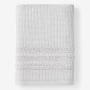 Legends Hotel Waffle Platinum Solid Cotton Single Bath Sheet