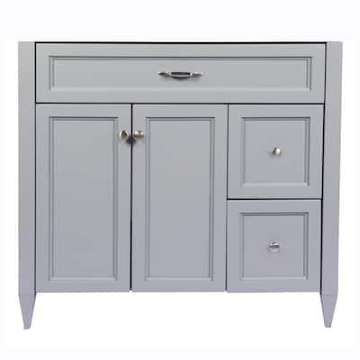 Verona 37 in. W x 22 in. D x 34.5 in. H Bath Vanity Cabinet Only in Grey