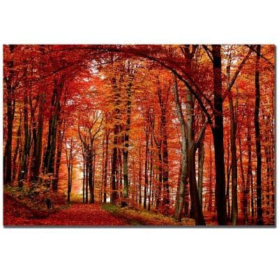 22 in. x 32 in. The Red Way Canvas Art
