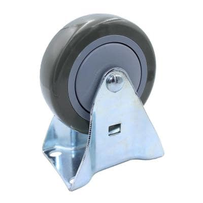 4 in. Polyurethane Fixed Caster with 375 lbs. Load Rating