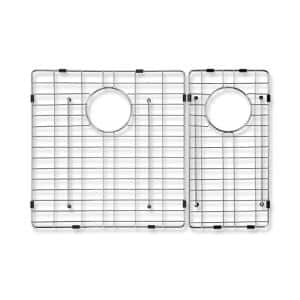 Caprice Wire Grid for Double Bowl Kitchen Sinks in Stainless Steel