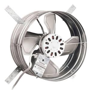 1020 CFM Silver Electric Powered Gable Mount Gable Louver Vent