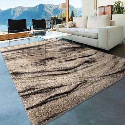 Brushed Bristol Multi 5 ft. x 8 ft. Abstract Indoor Area Rug