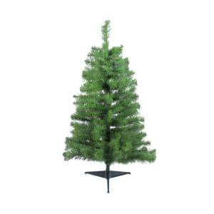 3 ft. x 22 in. Unlit Traditional Noble Fir Medium Artificial Christmas Tree