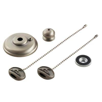 Independence Brushed Nickel Ceiling Fan Finial Kit