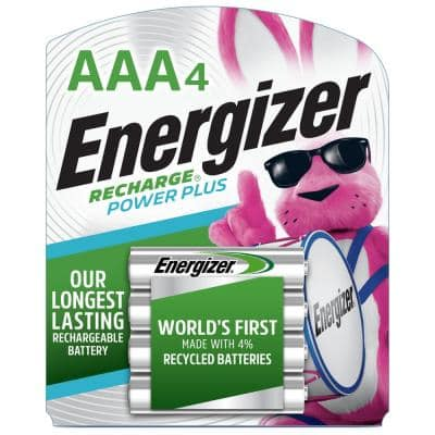 Power Plus Rechargeable AAA Batteries Triple A Batteries (4-Pack)
