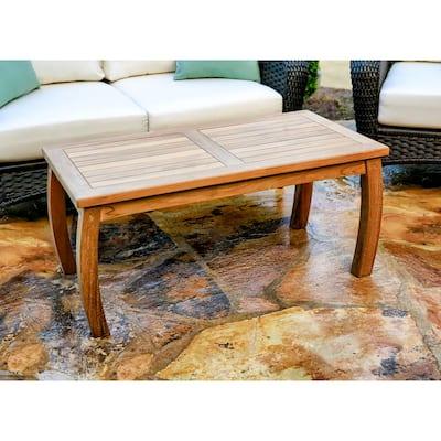 Jakarta Teak 20 in. x 40 in. Wood Rectangle Patio Coffee Table