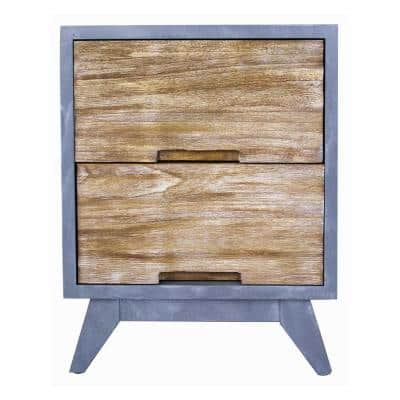 Shelly Gray with Distressed Wood Cabinet with a Drawers