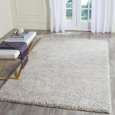 Ultimate Shag Silver 4 ft. x 6 ft. Area Rug