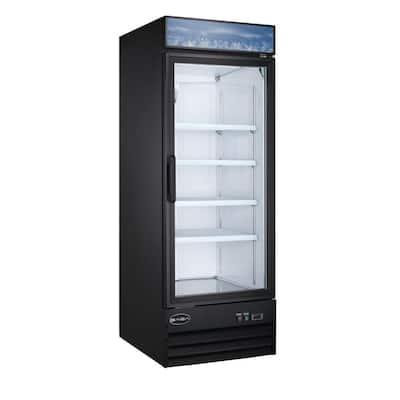 28 in. W 23 cu. ft. One Glass Door Commercial Merchandiser Refrigerator Reach In in Black