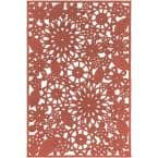 Cleome Bright Red 2 ft. x 3 ft. Indoor/Outdoor Area Rug