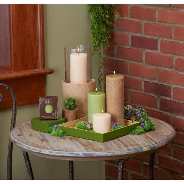 Root Candles 3 In X 9 In Timberline Beeswax Pillar Candle 33925 The Home Depot