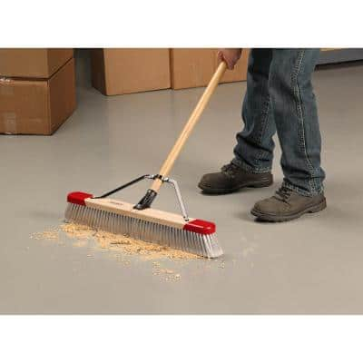 24 in. Easy to Assemble Indoor Push Broom