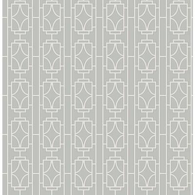 Empire White Lattice White Wallpaper Sample