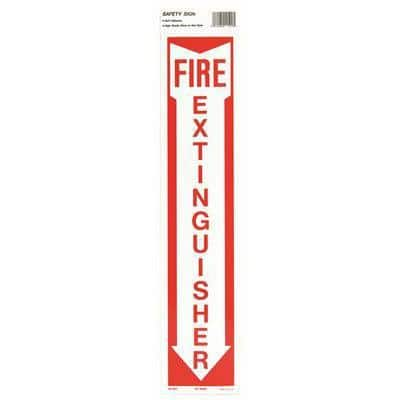 19 in. x 4 in. Hg Photolumin Fire Extinguisher Sign