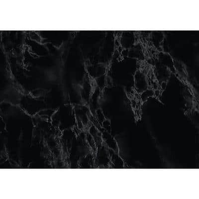 26.57 in. x 78.72 in. Black Marble deco film shelf liner