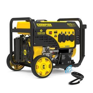 9375-Watt/7500-Watt Wireless Remote Start Gasoline Powered Portable Generator