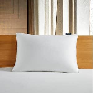 300-Thread Count White Down Fiber Bed Side Sleeper Medium Firm Jumbo Size Pillow
