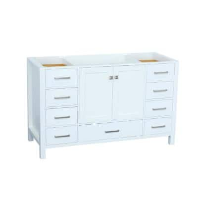 Cambridge 54 in. W Vanity Cabinet Only in White