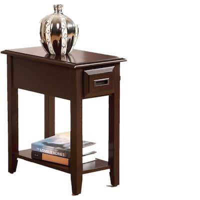Amelia Dark Cherry Wooden Side Table