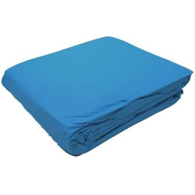 Blue 48 in. D/52 in. D, 18 ft. Round Overlap Pool Liner