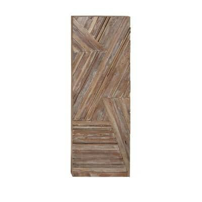 56 in. x 20 in. Overlapping Lines Wooden Wall Art